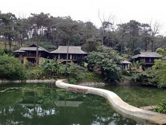 Khu resort đã xây dựng xong và đã đón khách du lịch từ lâu
