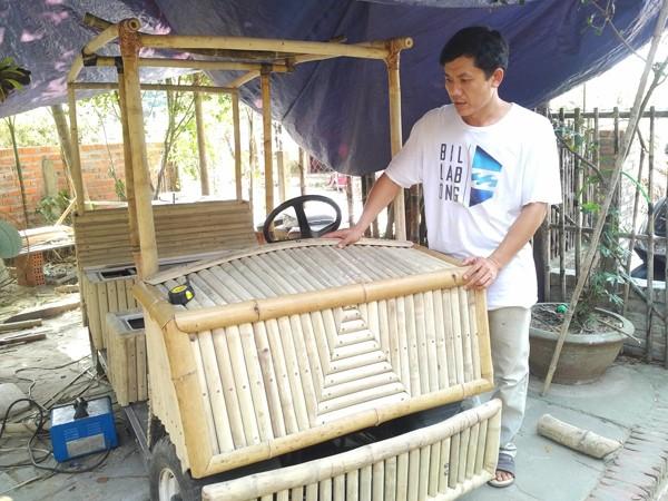 xe đạp tre, ô tô tre, ôtô tre, Đà Nẵng, Hội An, Tâboo, Võ Tấn Tân