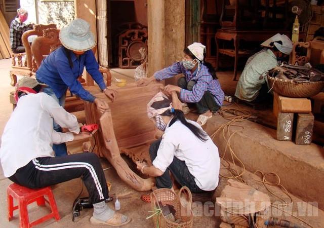 Làng nghề gỗ Đồng Kỵ - Bắc Ninh (ảnh: Cổng thông tin điện tử Bắc Ninh)