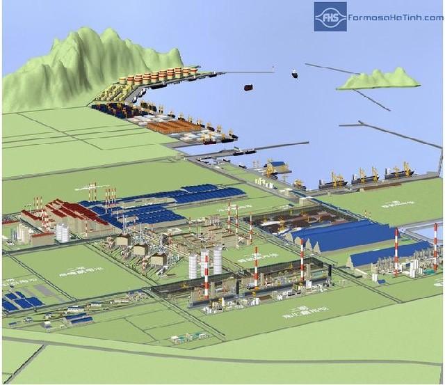 Phối cảnh dự án Formosa Hà Tĩnh