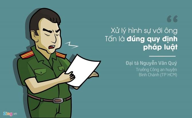 Vu khoi to hinh su chu quan ca phe Xin Chao qua tranh hinh anh 1