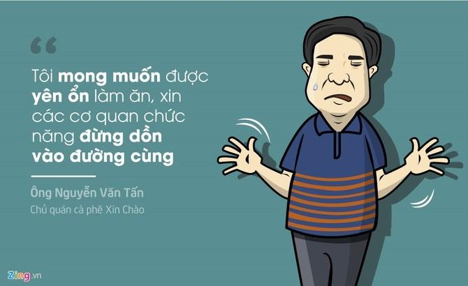 Vu khoi to hinh su chu quan ca phe Xin Chao qua tranh hinh anh 3
