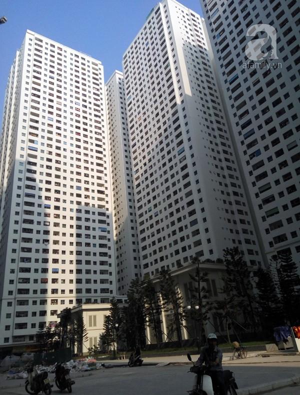 Một góc của tổ hợp chung cư đông dân nhất nhì Hà Nội.