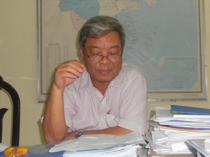 Ông Trần Văn Minh chủ tịch UBND thị xã Ninh Hòa trả lời phóng viên.