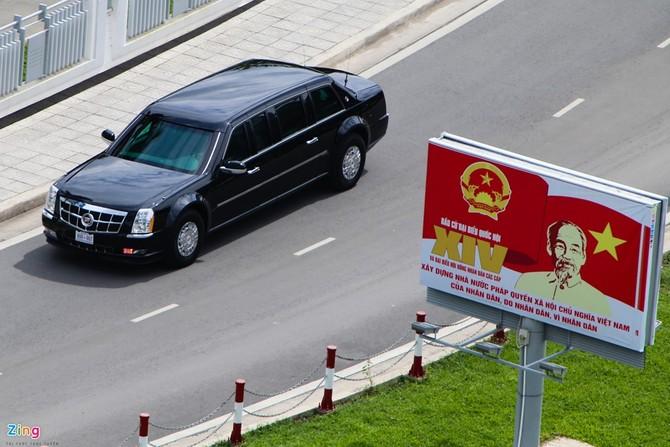 Cadillac One cua Tong thong Obama tren duong pho Sai Gon hinh anh 7