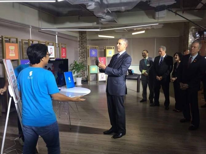 [TRỰC TIẾP] Tổng thống Obama giao lưu với doanh nhân, ông Đinh La Thăng đến dự - ảnh 4