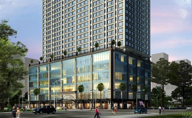 Một trung tâm thương mại hoạt động trên 6 tầng trong một chung cư cao cấp tại quận 3 đang hoàn thiện nội thất để đi vào hoạt động vào cuối năm nay.