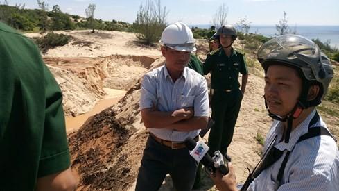 Vỡ bờ moong khai thác titan ở Bình Thuận - ảnh 2