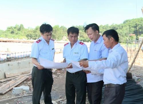 Thanh tra Sở Xây dựng kiểm tra tại công trình