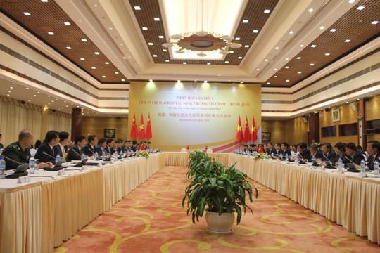 Quang cảnh phiên họp lần thứ 9 Ủy ban chỉ đạo hợp tác song phương Việt Nam – Trung Quốc