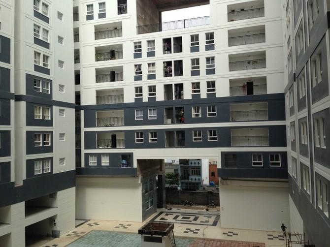 Đa số các căn hộ đã được cư dân vào ở.