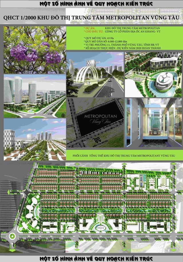 Quy hoạch tổng thể dự án do Sở Xây dựng tỉnh Bà Rịa - Vũng Tàu công bố chính thức