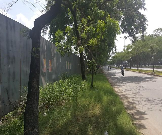 Khu vực mặt tiền dự án nằm trên đường Nguyễn Văn Linh.