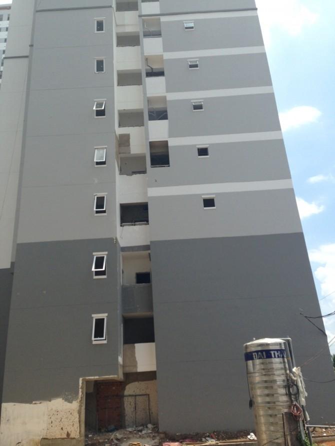 Một góc Block 4 chung cư HQC Plaza
