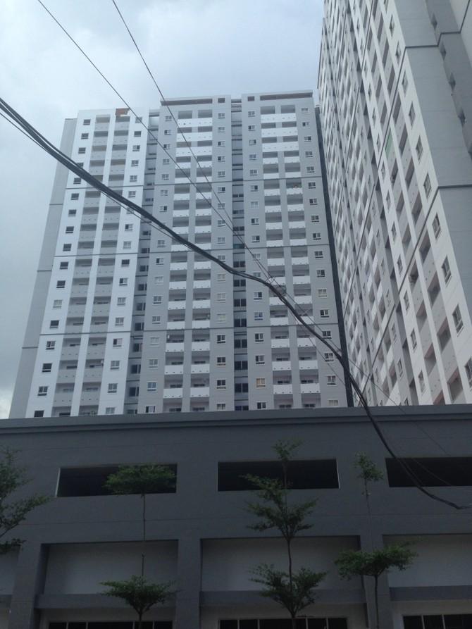 Block 4 nơi xảy ra vụ cháy đêm 15/7.