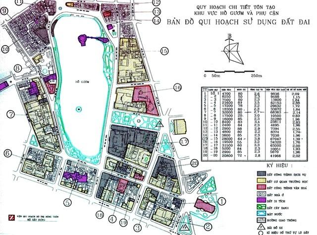 Quy hoạch chi tiết hồ Gươm và phụ cận đã được phê duyệt từ 1998