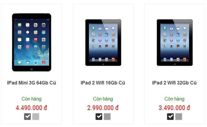 iPad doi co len ngoi, hang moi dong bang tai Viet Nam hinh anh 2