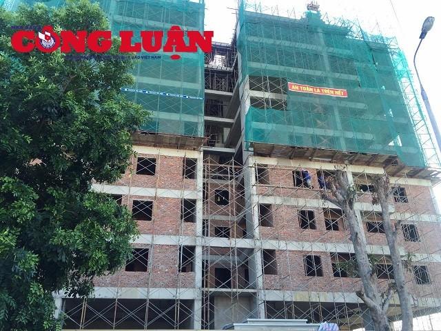 Cận cảnh công trình 21 tầng sai phép tại Phường Đông Vệ - TP Thanh Hóa