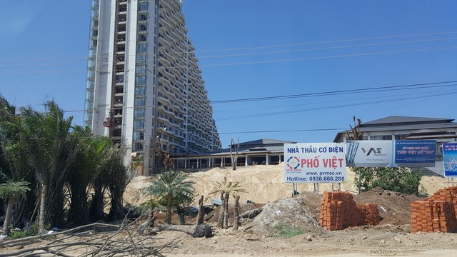 Một dự án khách sạn cao cấp đang hoàn thiện phần thô