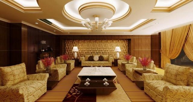 Phòng tổng thống tại tầng 24, nơi đã được đoàn Brunei đặt cho Quốc vương của họ trong chuyến công tác tới Lào.