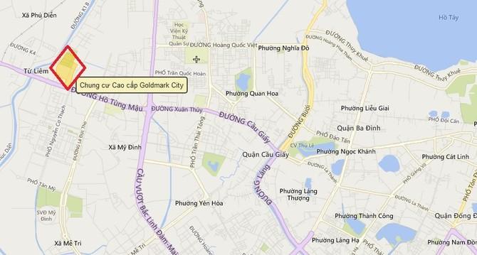 Dự án tọa lạc ngay trên trục Cầu Giấy - Hồ Tùng Mậu.