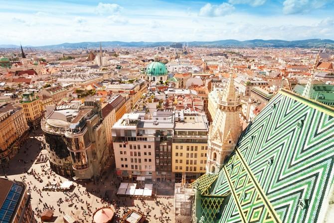2. Vienna, Áo - Thành phố này là một trong hai thành phố châu Âu để làm cho danh sách top chín với một số điểm là 97,4.
