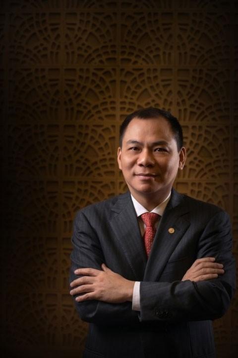 Ông chủ Tập đoàn Vingroup, Phạm Nhật Vượng. Ảnh: Fosbes