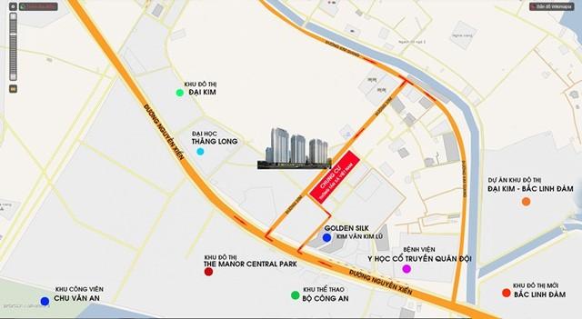 Dự án có vị trí thuận tiện về giao thông, khi nằm trong khu đô thị mới mặt đường Nguyễn Xiển, đồng bộ về hạ tầng.