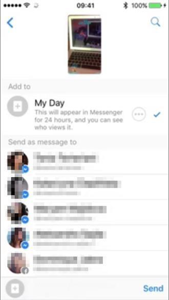 "Facebook vua ""vay muon"" Stories cua Snapchat de tao ra Messenger Day - Anh 3"