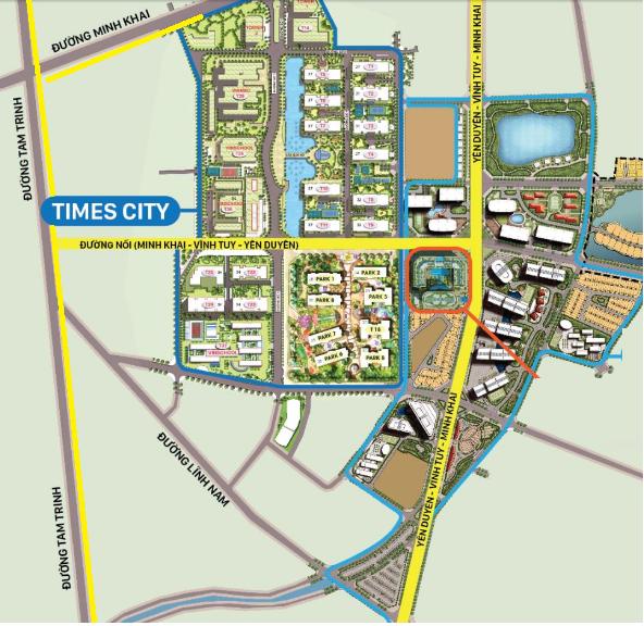 Các trục đường lớn đang từng bước hình thành khu vực Minh Khai - Tam Trinh - Vĩnh Tuy.