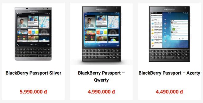 Dan buon xa hang, gia BlackBerry Passport tai VN cham day hinh anh 2