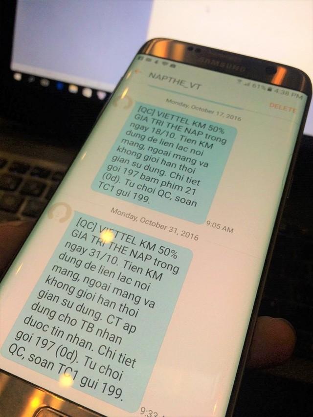 Các thuê bao của 5 nhà mạng sẽ không nhận được thêm tin nhắn báo khuyến mại từ 31/10/2016. Ảnh: Ngô Minh.