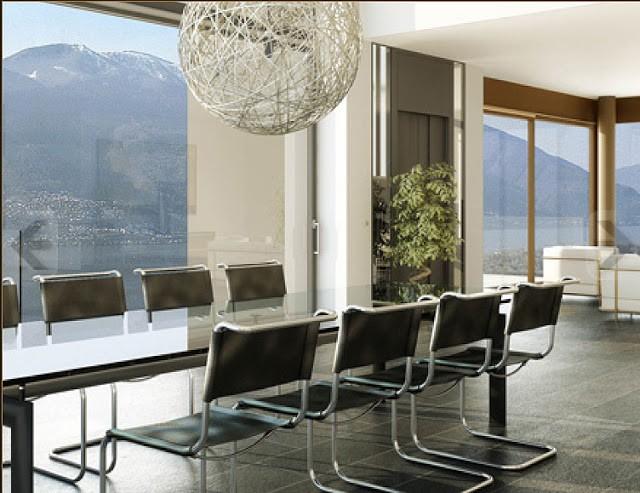 Ngôi nhà nổi tiếng này được thiết kế và hoàn thiện bởi công ty exlusivHAUS (Thụy Sỹ) hợp tác với Công ty Stuart Hughes.