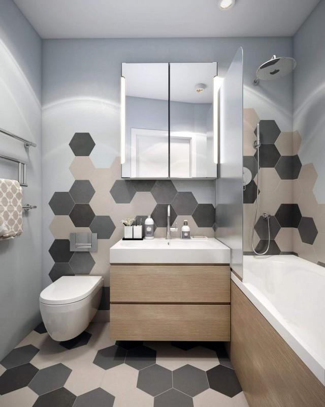 Cũng giống như nhiều căn hộ khác, phòng tắm vẫn cần sự tách biệt riêng tư với các khu vực chức năng khác.
