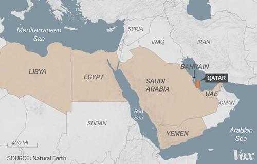 Vị trí các quốc gia vùng Vịnh. Đồ họa: Vox.
