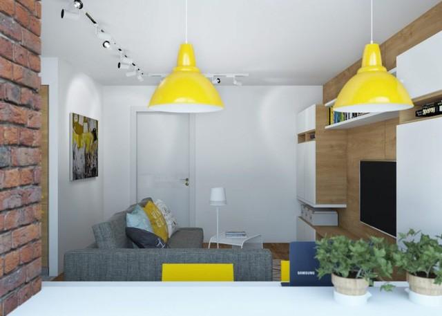Không gian phòng khách còn được thiết kế tiện nghi với hệ tủ gỗ nhiều ngăn thỏa mãn nhu cầu trũ đồ của chủ nhà.