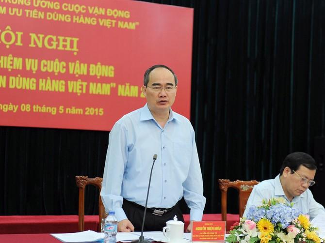 Nguyễn Thiện Nhân, MTTQ, người Việt Nam ưu tiên dùng hàng Việt Nam