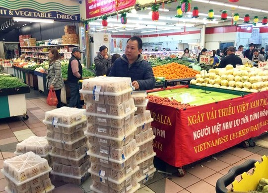 300 kg vải Việt bán lẻ hết sau 1 giờ tại Australia