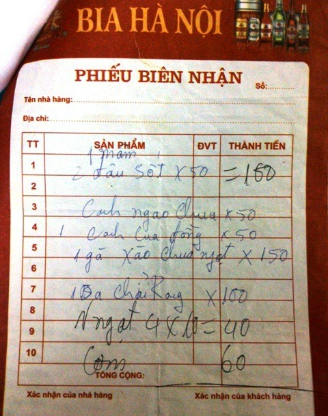 'Chặt chém' 2 bát cơm, nhà hàng ở Sầm Sơn bị phạt 20 triệu