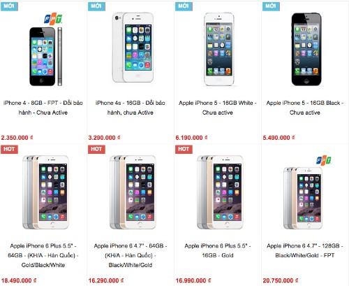 Các dòng iPhone đời cũ 'đổi bảo hành' được bán như máy mới nhưng với giá rẻ.