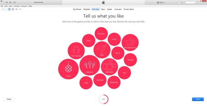 Chọn thể loại nhạc yêu thích và nhấn đúp (double click) thể loại rất thích để Apple Music giới thiệu nội dung phù hợp đến bạn