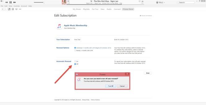 Bỏ tính năng tự động gia hạn thuê bao Apple Music