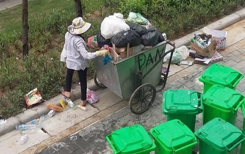 tè bậy, chung cư, vứt rác, văn minh, Hà Nội, hình ảnh, xấu xí