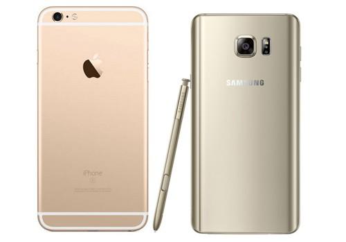 Điểm nổi bật trên iPhone 6s Plus là công nghệ cảm ứng lực 3D Touch còn Galaxy Note 5 là S Pen.