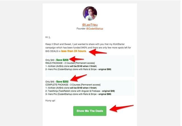 Email mang về cho Code4Startup 12,000 USD trong 24 giờ cuối cùng gọi vốn