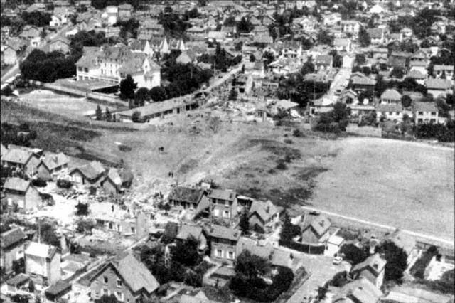 Quang cảnh Goussainville sau vụ tai nạn máy bay
