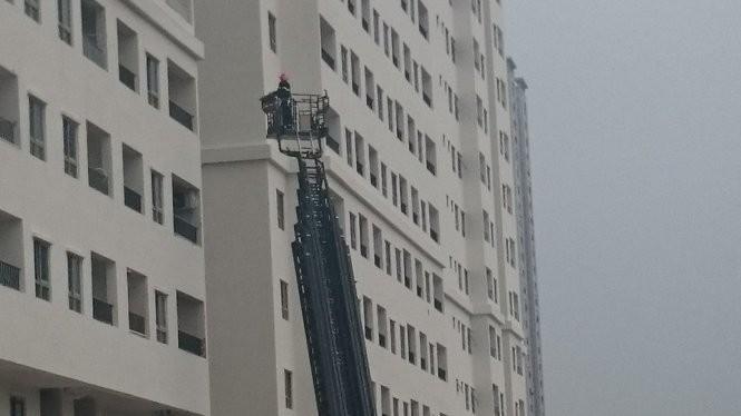 Xe thang cứu hỏa - Ảnh: Anh Quang