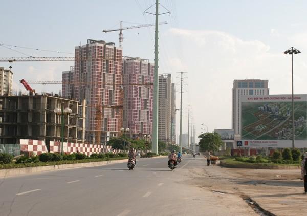 đường Nguyễn Trãi, Lê Văn Lương, đường tố hữu, dự án chung cư văn khê, khu đô thị mỗ lao, dự án văn phú, dự án parkcity, tàu điện trên cao, tắc đường, cao ốc mặt đường, vỉa hè