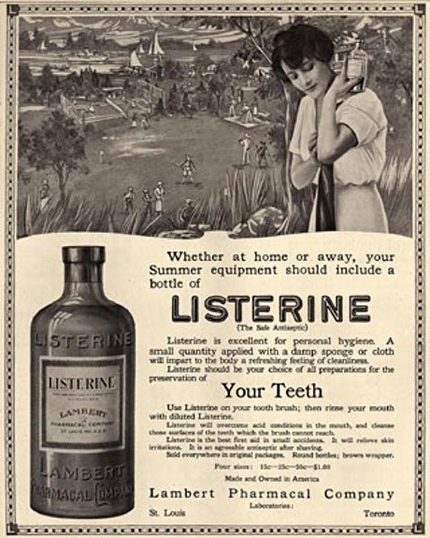 Quảng cáo của Listerine thập niên 20