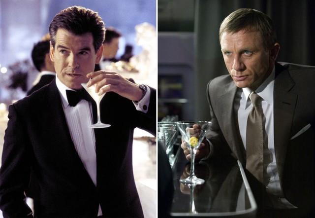 Các thế hệ James Bond đều xuất hiện với ly martini quen thuộc
